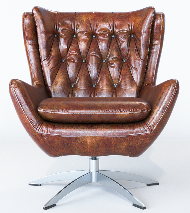 Leather Armchair 3D Model by CG Hero Mher Hakhyan
