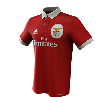 Benfica Football Shirt 3D Render