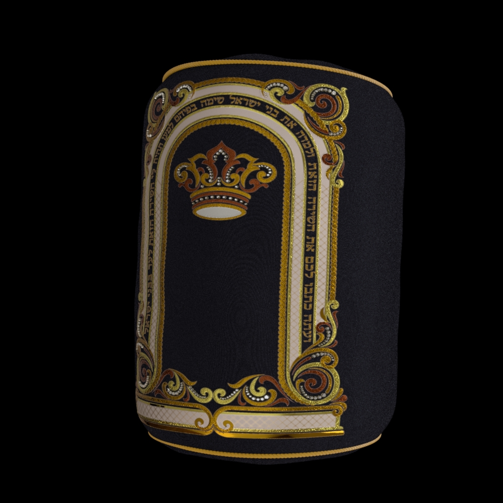 Crown and handles Torah 02 JPG