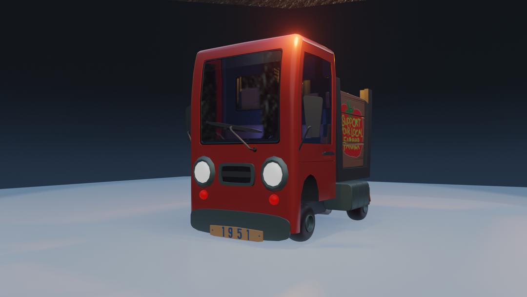 STylized Farm Truck 00 png