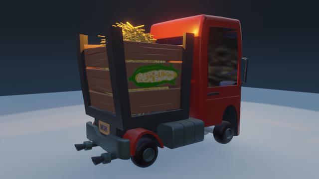 STylized Farm Truck 01 png