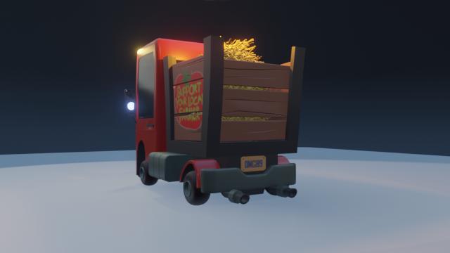 STylized Farm Truck 02 png
