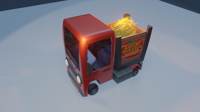 STylized Farm Truck 03 png