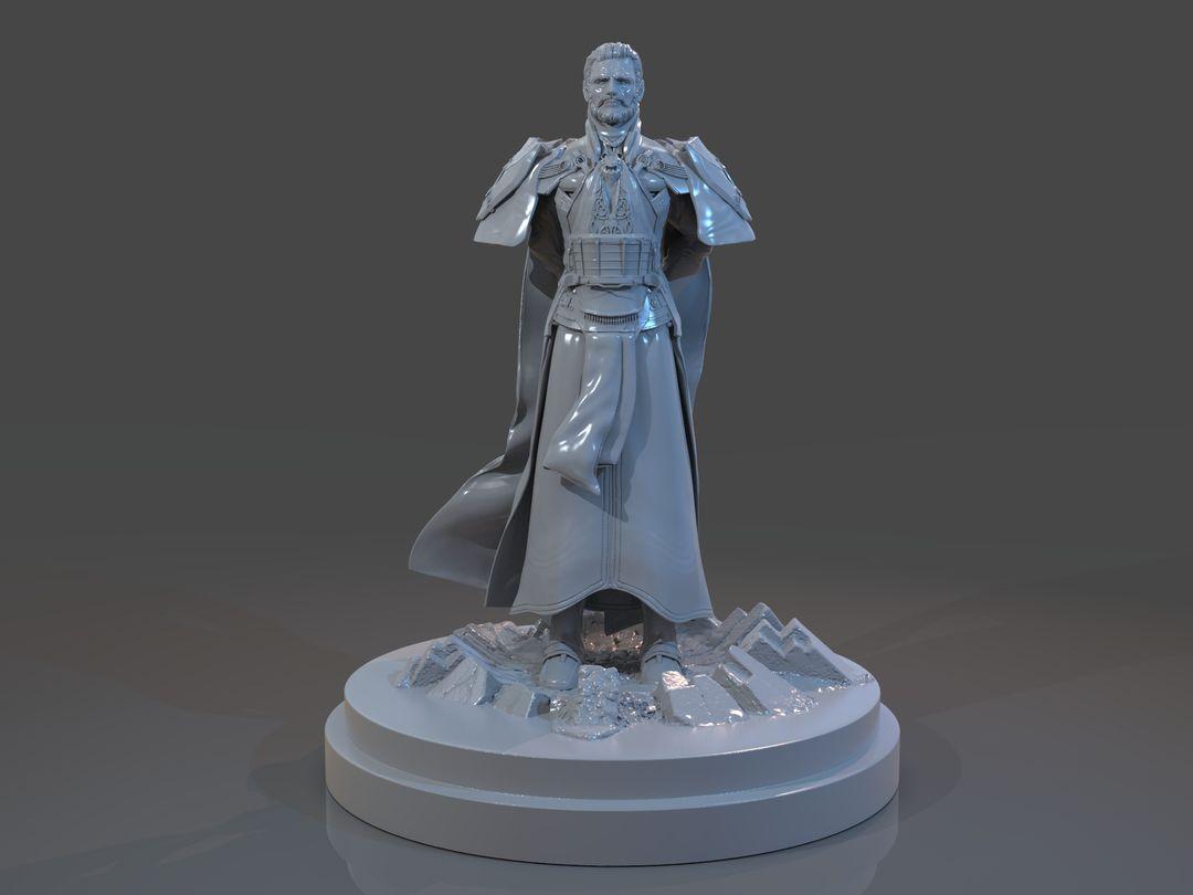 Emperor Valkorion Sculpture 3D Print Emperor Valkorion Render 130 jpg