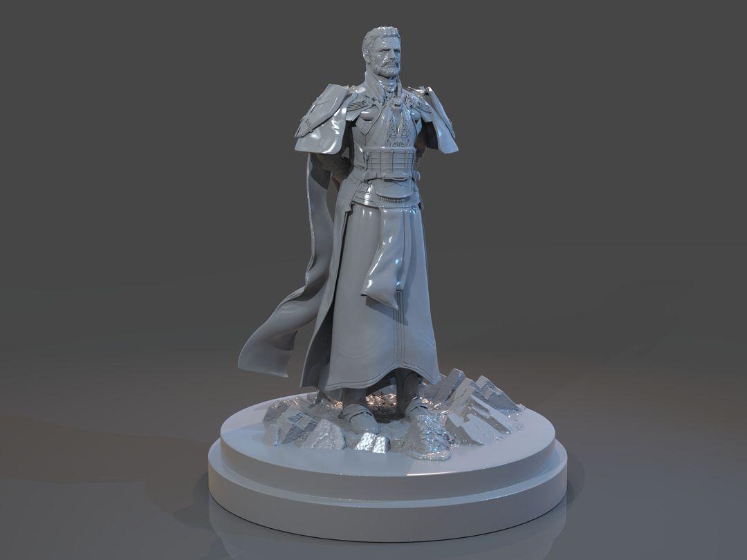 Emperor Valkorion Sculpture 3D Print Emperor Valkorion Render 138 jpg