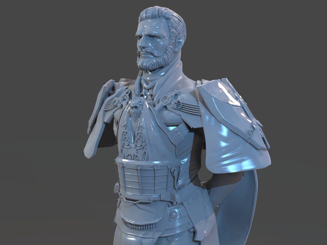 Emperor Valkorion Sculpture 3D Print Emperor Valkorion Render 140 jpg