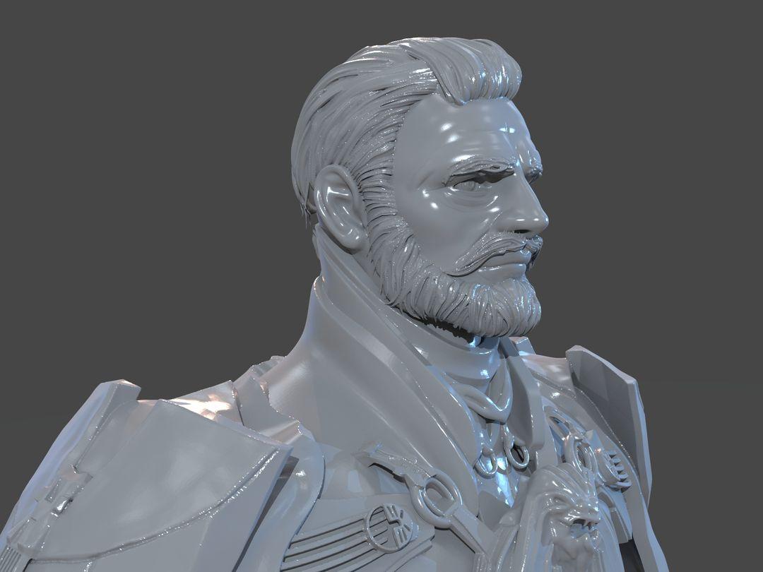 Emperor Valkorion Sculpture 3D Print Emperor Valkorion Render 155 jpg