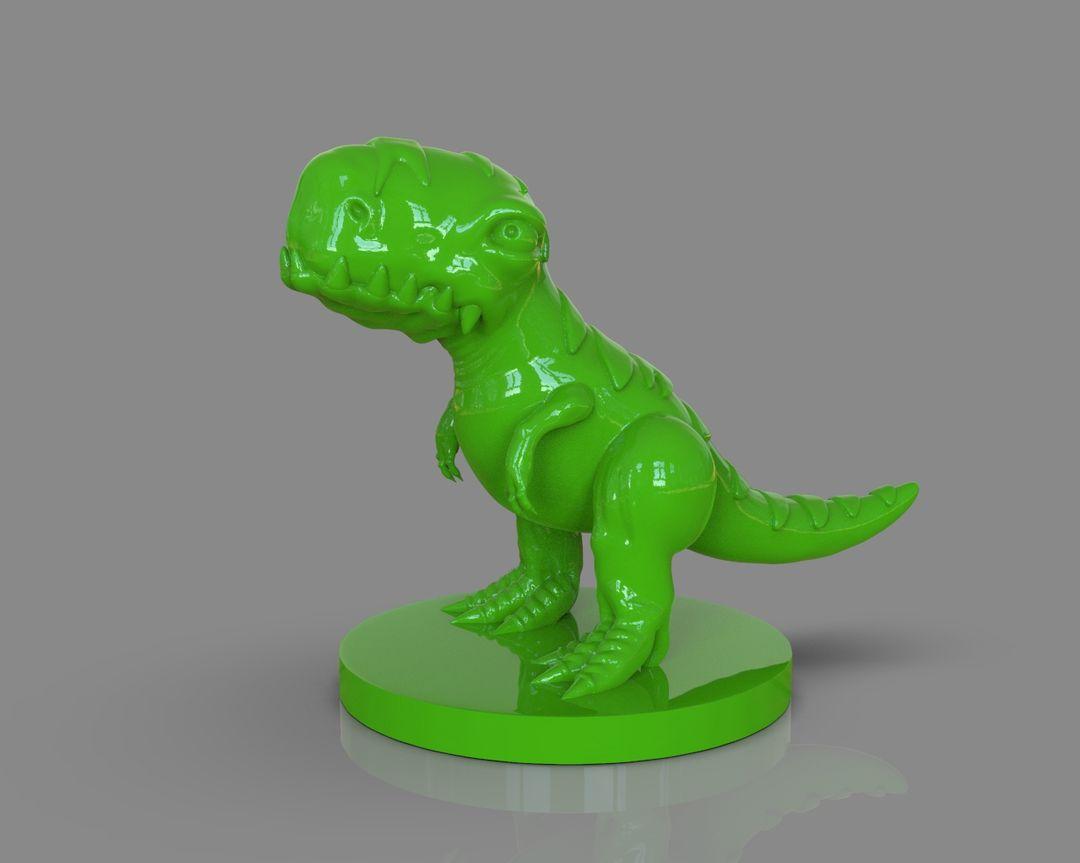 Stylized Dinosaur T-Rex 3D Printable untitled 115 jpg