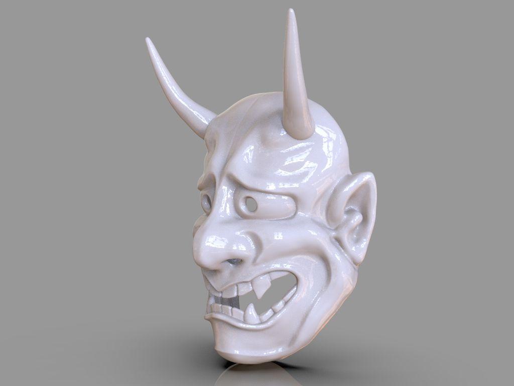 Oni Mask 3D Print untitled 410 jpg
