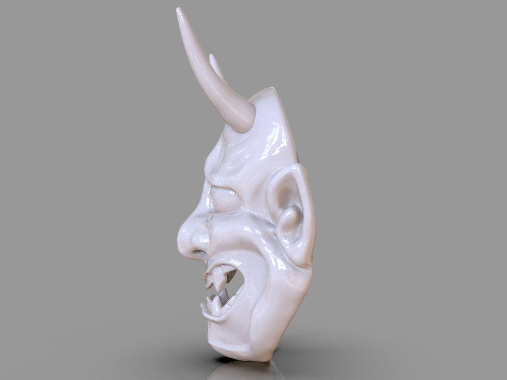 Oni Mask 3D Print untitled 411 jpg