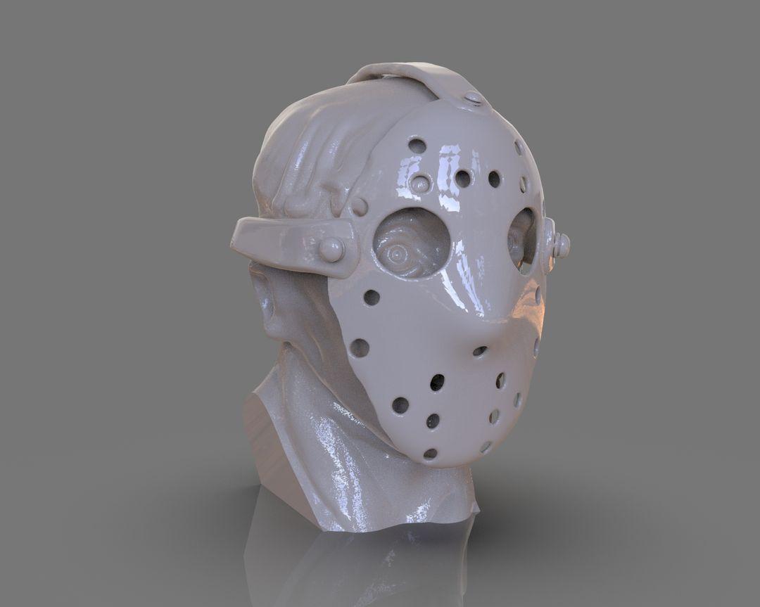 Jason Voorhees Bust 3D Print untitled 89 jpg