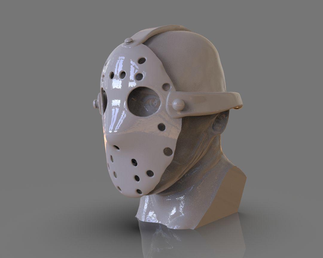 Jason Voorhees Bust 3D Print untitled 91 jpg