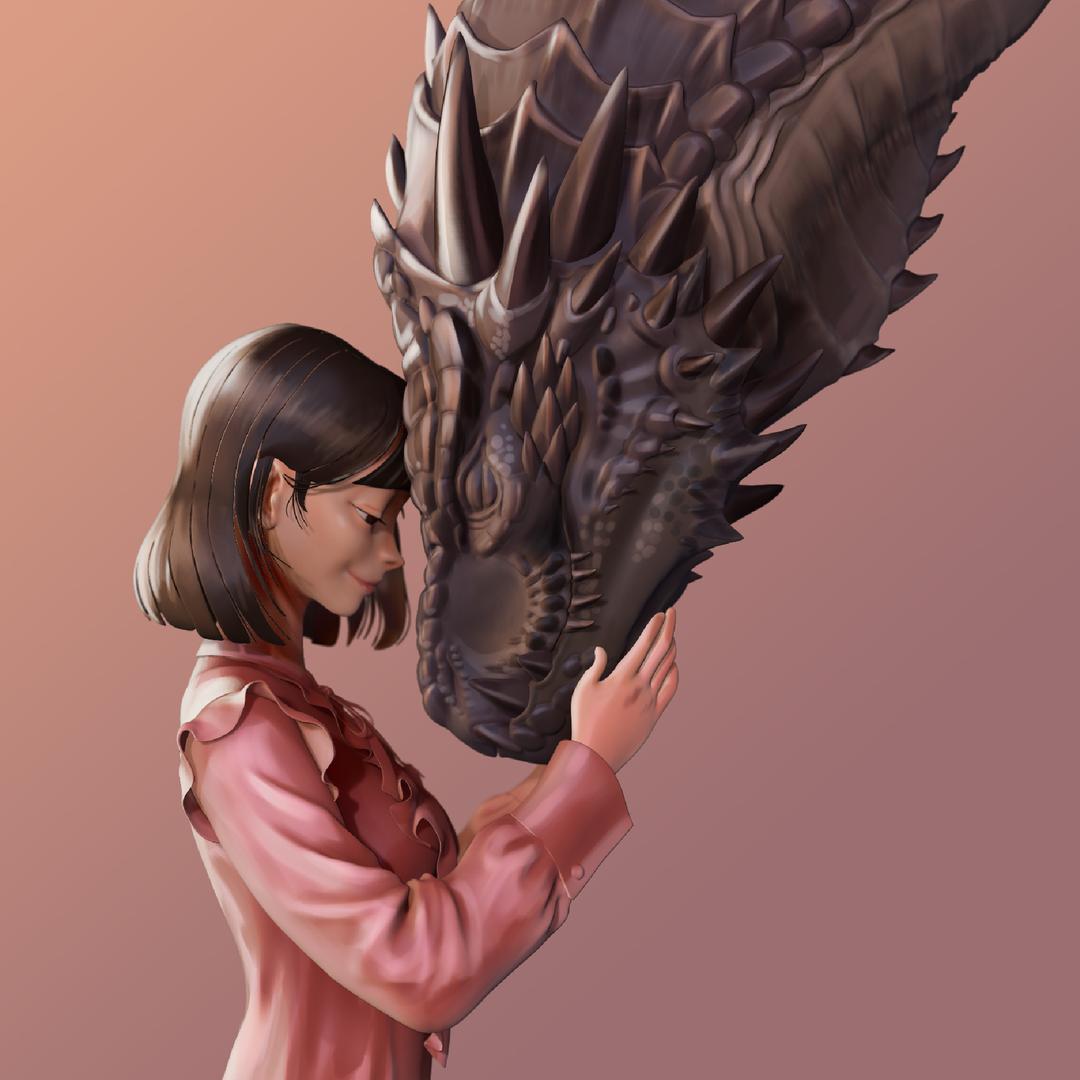 Dragon and Girl master png
