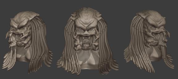predator head sculpture