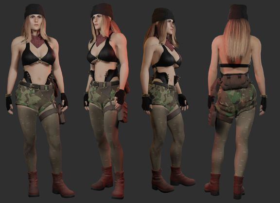 Female Character Model for Unreal Engine