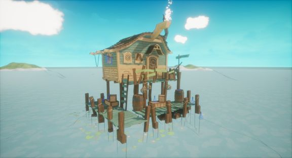 Stylised Pirate Shanty Shack