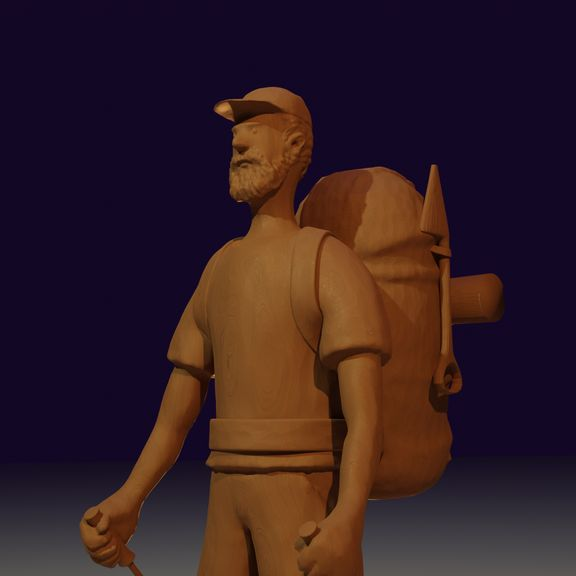 A Wooden skinned Hiker
