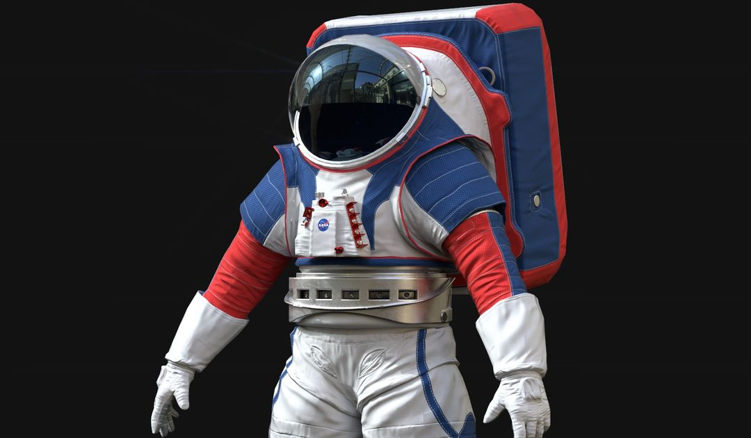 Lowpoly Astronaut Suit qa jpg