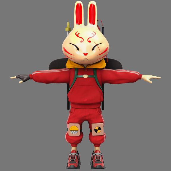 Ninja Rabbit Character