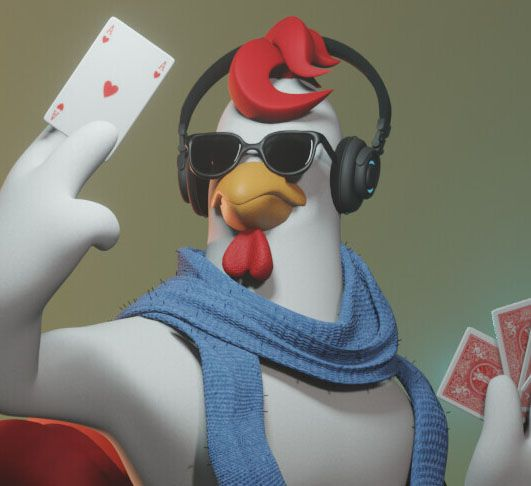 Pocker club mascot rooster