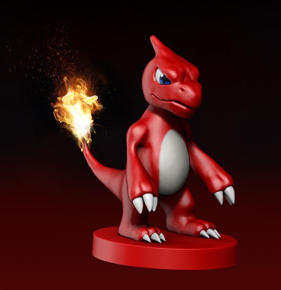 Charmeleon Pokemon Sculpt