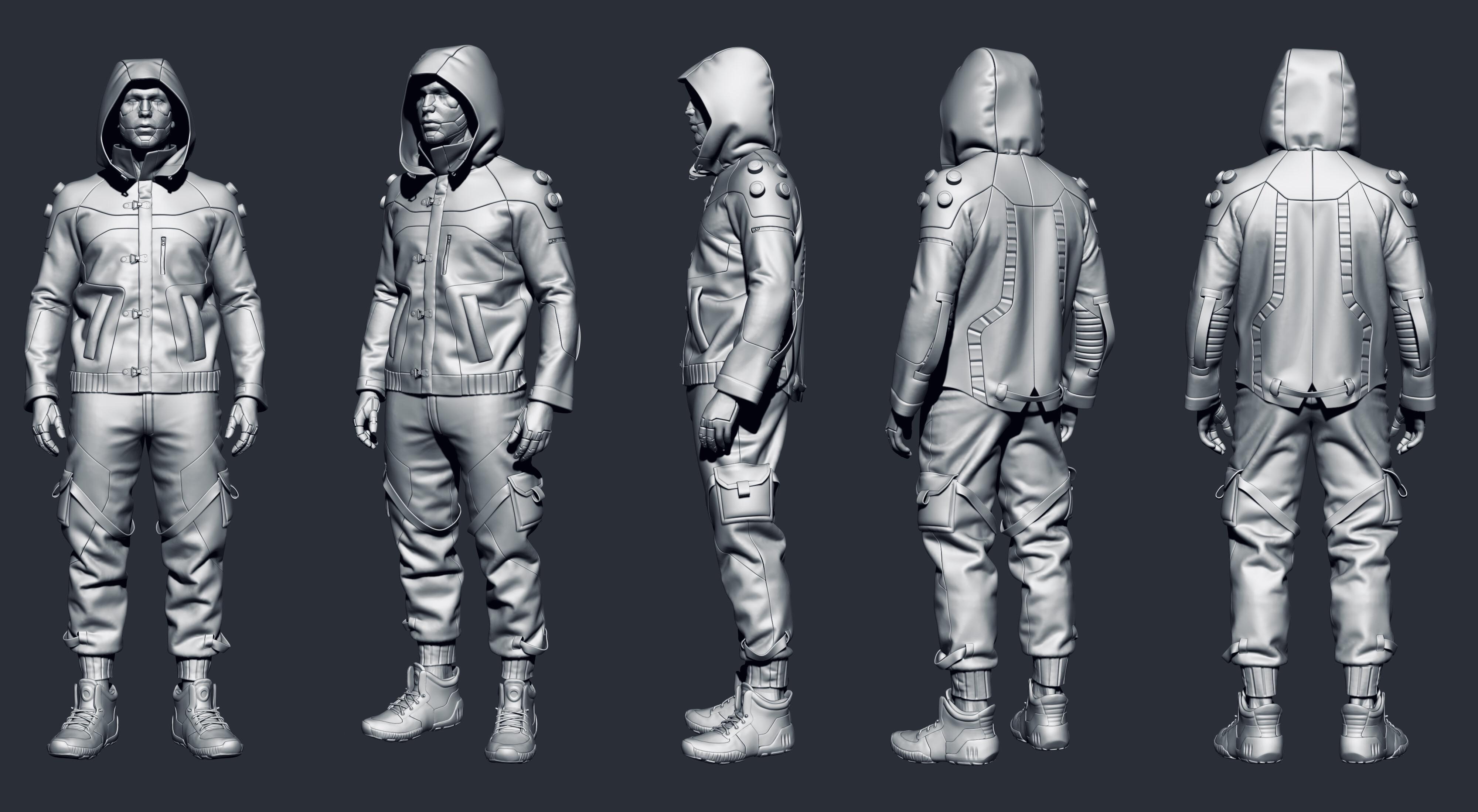 Cyberpunk street clothes