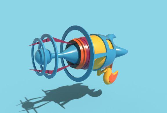 Space Cartoon Gun