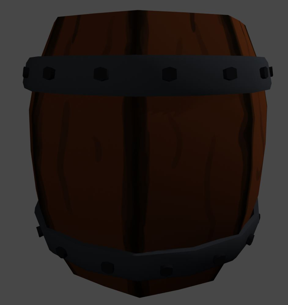 Stylized Wooden Barrel