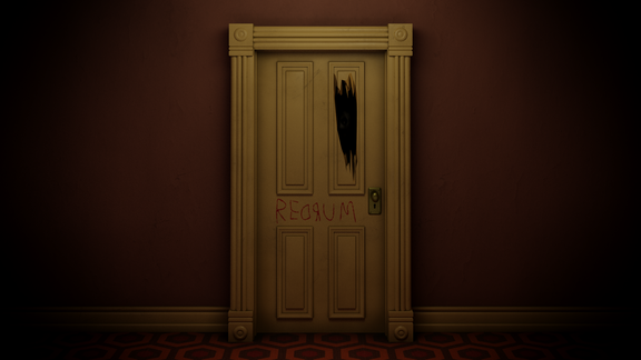 The Shining- Redrum Door