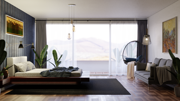 Architecture visualization - Bedroom