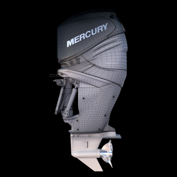 3D model Mercury 350XL Verado