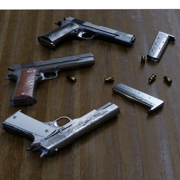 M1911 Customizable | Exchangeable parts and color | 3 models