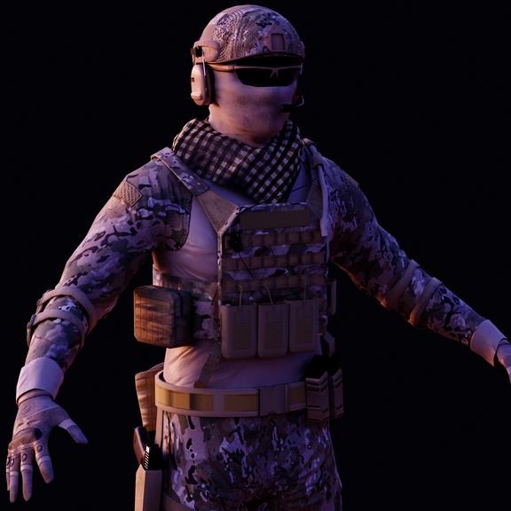 Military Multicam Loadout