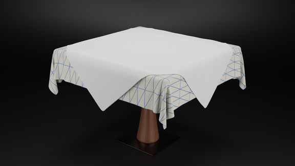 Restaurant Table with Cloth Simulation
