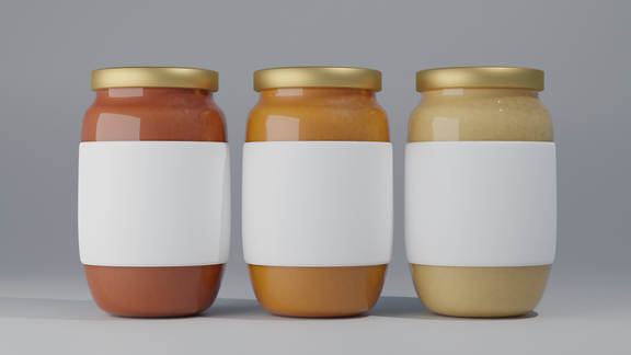 Cheese and Jelly Products for Mockup