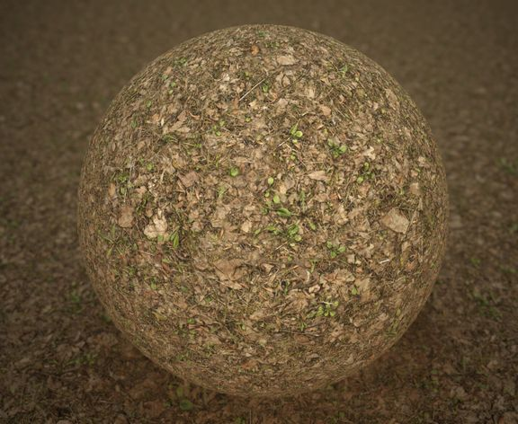 Photoscanned PBR Material - Grass & Leaves