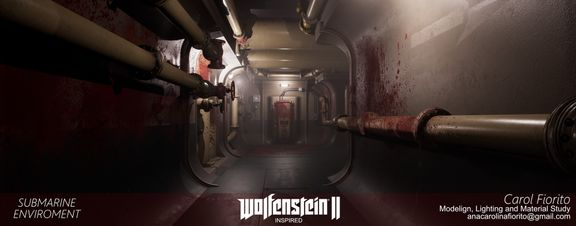 Submarine Enviroment - Fan art Wolfenstein II