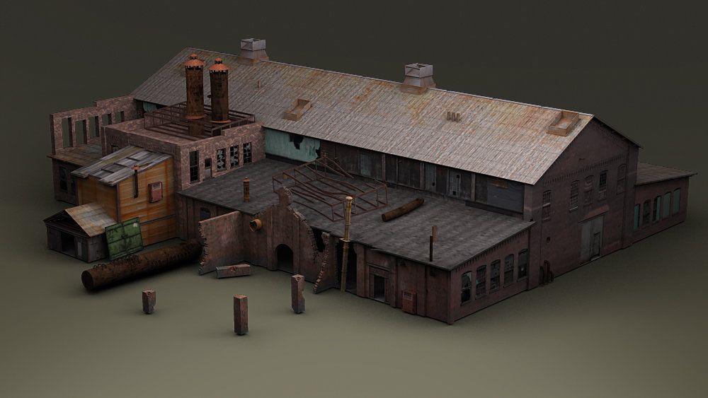 Gameart Buildings dis studio trainstation 001 jpg
