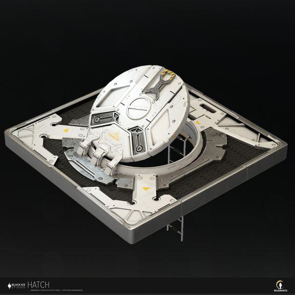 Sci-fi  hatch, hard surface prop