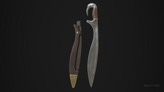 Kopis, ancient Greek sword - hard surface prop
