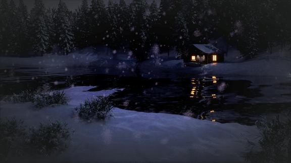 Log Cabin Scene